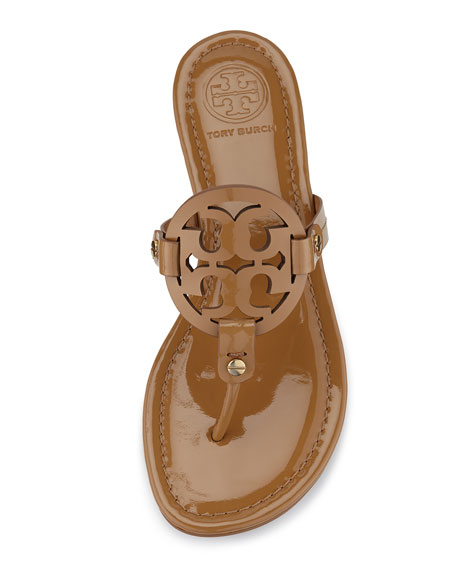 c95a9ad54 Tory Burch Miller Patent Logo Sandal