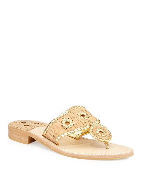 Jack Rogers Napa Valley Cork Thong, Natural/Gold