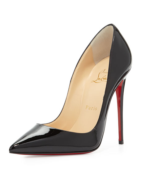 So Kate Patent Red Sole Pump, Black
