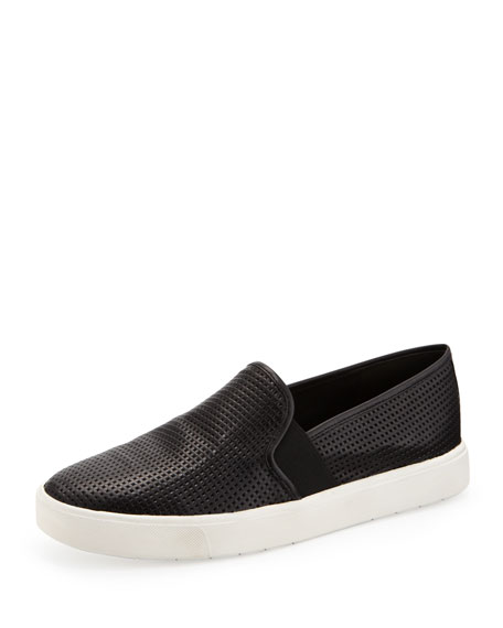 Vince Blair Perforated Slip-On Sneaker, Black