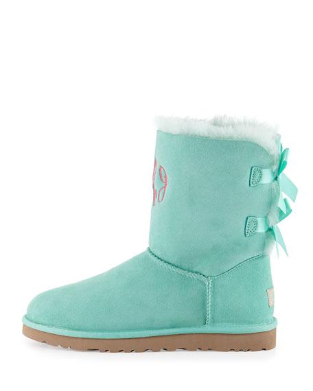 Bailey Bow-Back Short Boot, Aqua
