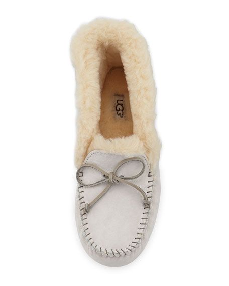 UGG Alena Collared-Tie Slipper, Salt