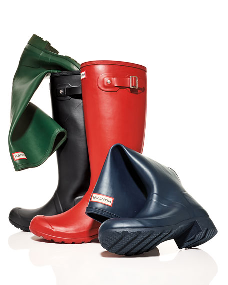 Original Tour Packable Rain Boot, Military Red