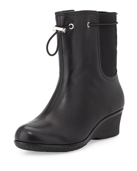 Taryn Rose Amir All-Weather Leather Boot, Black