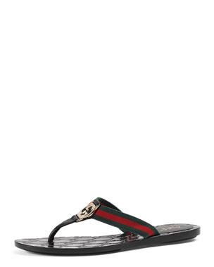 GG Web Thong Sandal