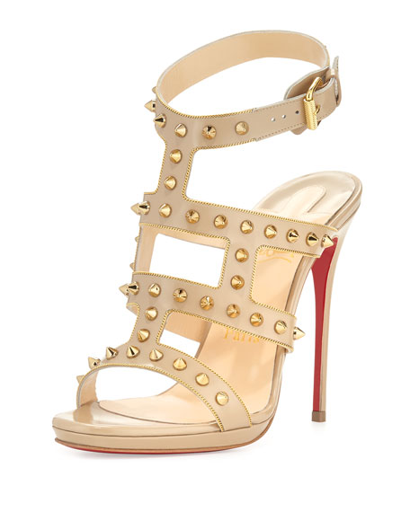 Christian Louboutin Baretta Studded 70mm Red Sole Pump, Black