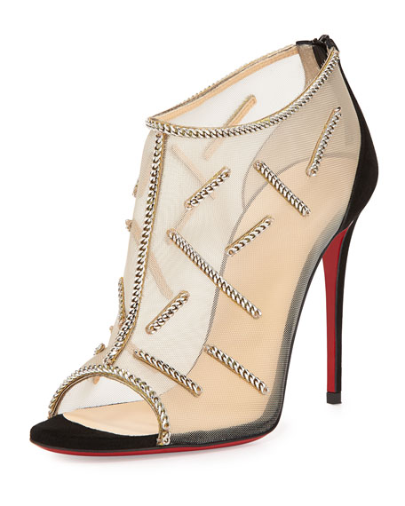 christian loui vuitton shoes - Christian Louboutin Signifiamma Mesh Red Sole Pump, Black