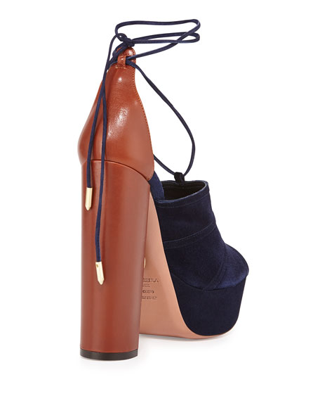 Very Eugenie Suede Pump, Ink/Luggage