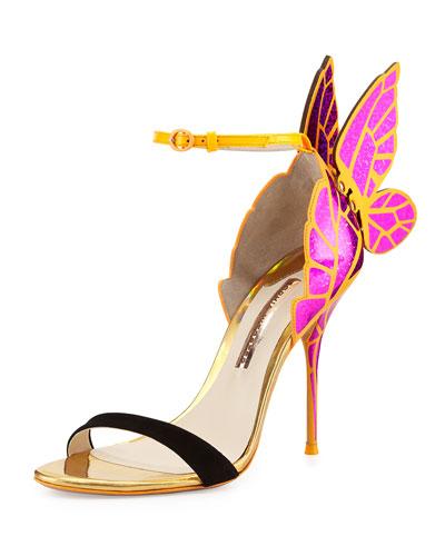 Chiara Butterfly Wing Sandal, Fuchsia