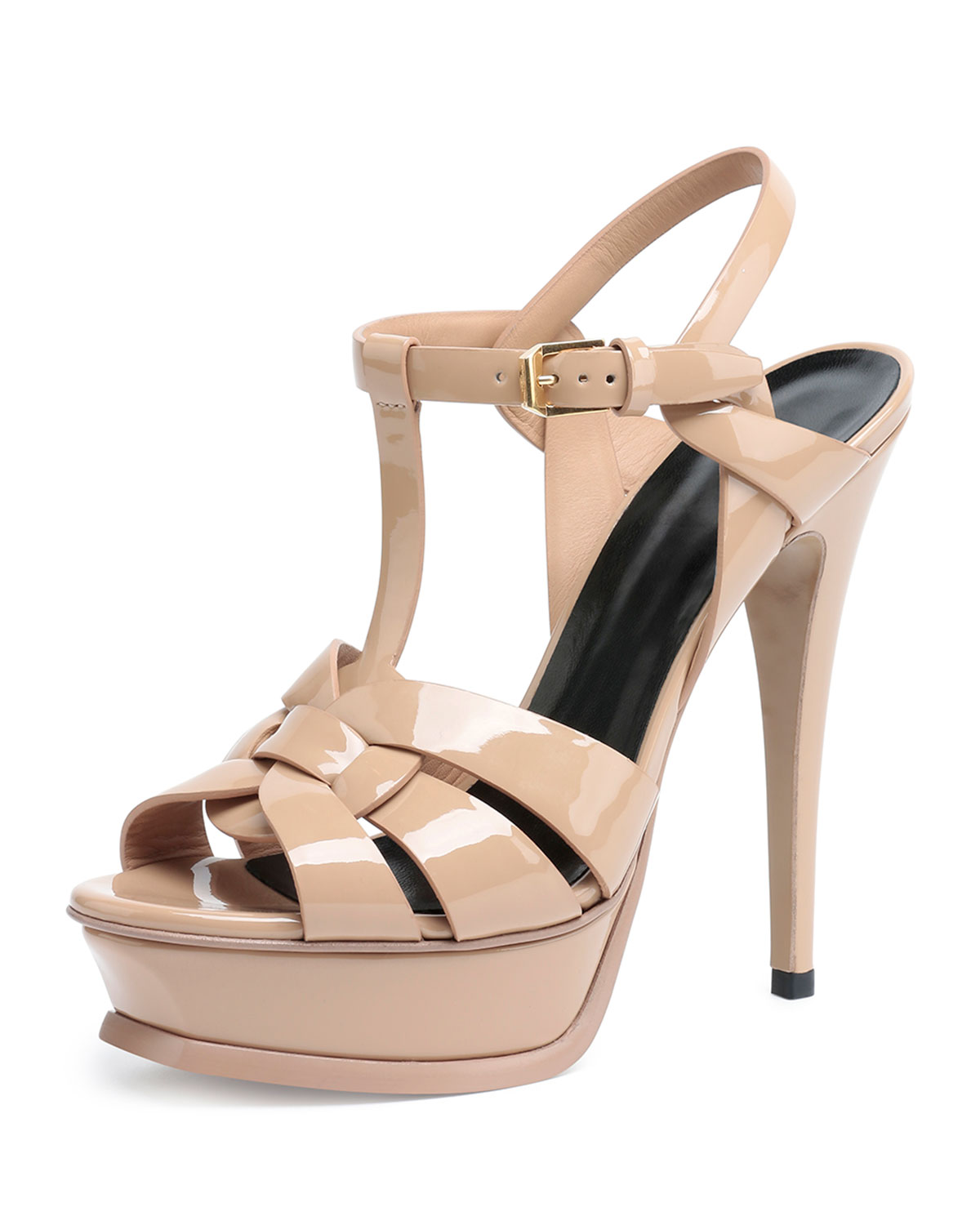 54aeb714019 Saint Laurent Tribute Patent Leather Sandal