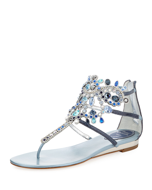 f874f366bfc454 Rene Caovilla Crystal-Chandelier Thong Sandal