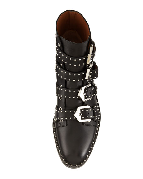 Givenchy Studded Leather Ankle Boot, Black