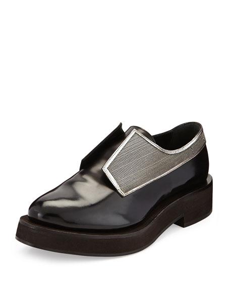 Brunello Cucinelli Calfskin Monili Derby Shoe, Black