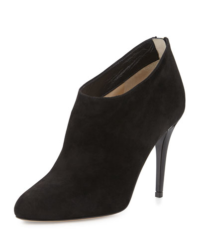 Mendez Suede Ankle Bootie, Black
