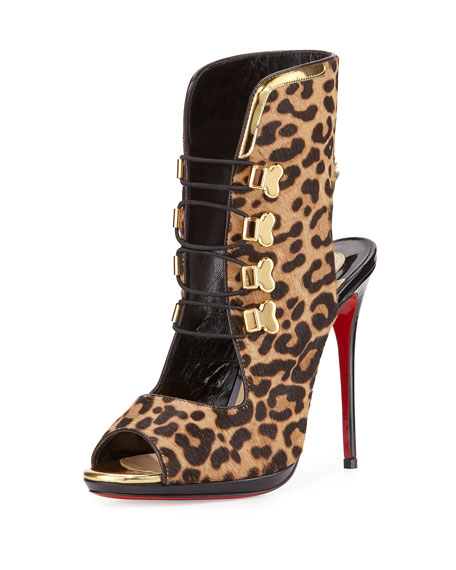 Christian Louboutin Troubida Calf-Hair Red Sole Pump,
