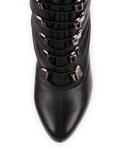 christian louboutin lace up over the knee boots - Bavilon Salon