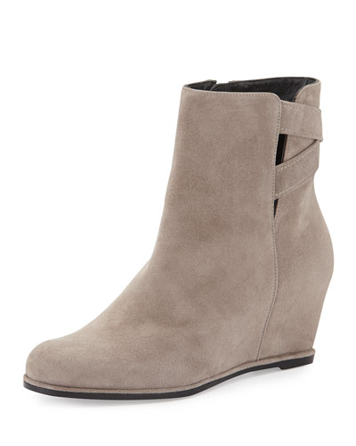 Fitness Suede Wedge Bootie, Topo
