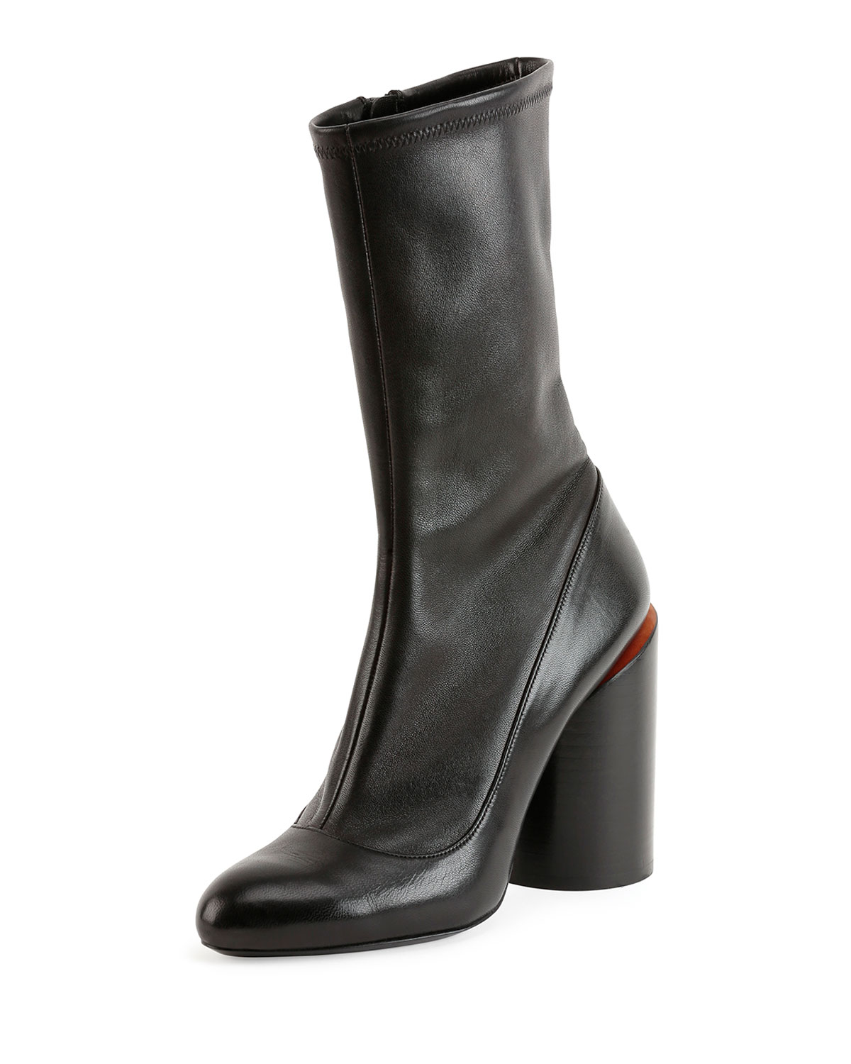Givenchy Leather Wide-Heel Show Boot 77f04b4d4