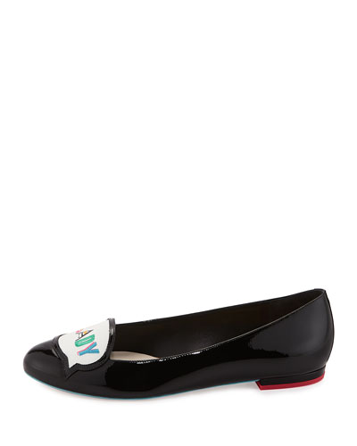 Boss Lady Patent Leather Loafer, Black