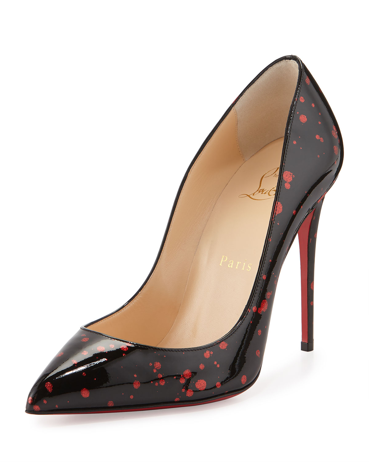 8135375ccc60 Christian LouboutinPigalle Follies Flecked Red Sole Pump