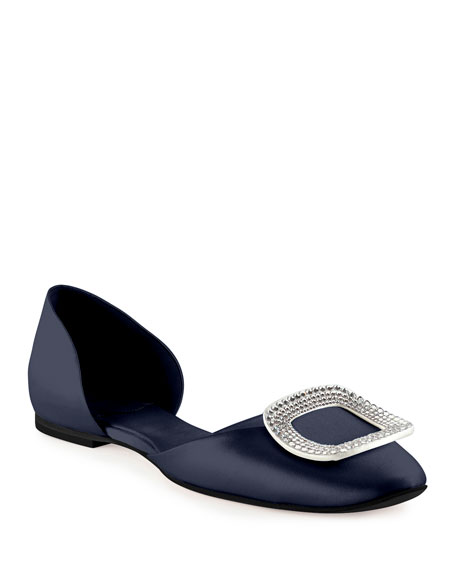 cheap 2014 outlet under $60 Roger Vivier Embellished Buckle d'Orsay Flats free shipping cheap real p8uROoFN