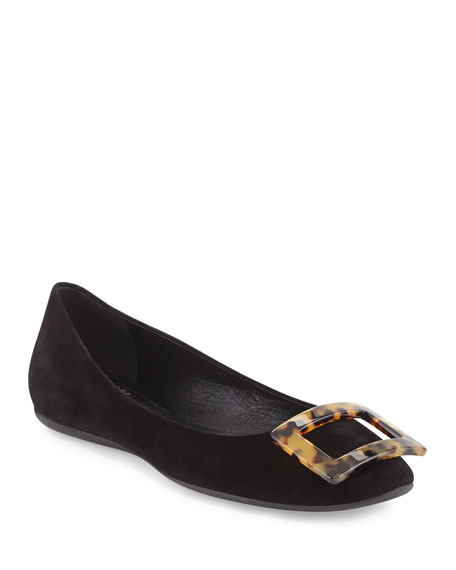 Man/Woman Roger Vivier Gommette Suede Ballet Flats, Black Black Black   Special Offers at the End of the Year 5fda3e