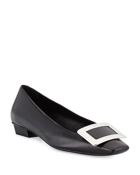 Roger Vivier Belle Vivier Leather Pumps, Black