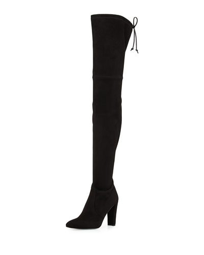 Alllegs Suede Over-the-Knee Boot, Black