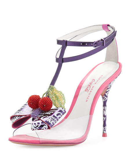 Sophia Webster Lana Cherry Coke Sandal, Purple