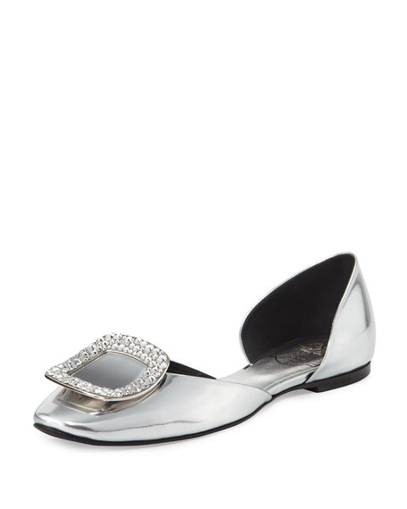 Roger Vivier Embellished Buckle d'Orsay Flats buy cheap cheap shopping online free shipping free shipping 2015 buy cheap lowest price cSsFwYQ90