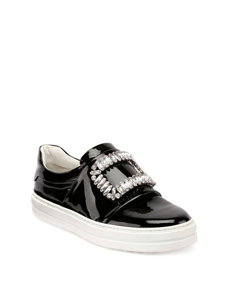 Sneaky Viv Patent Sneakers, Black