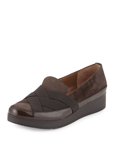 Vixie Stretch Slip-On Loafer, Dark Brown