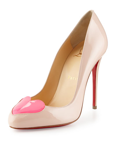 christian louboutin pumps Pink patent leather slingback strap ...