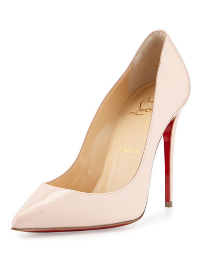 Pigalles Follies Patent 100mm Red Sole Pump, Ballerina Pink