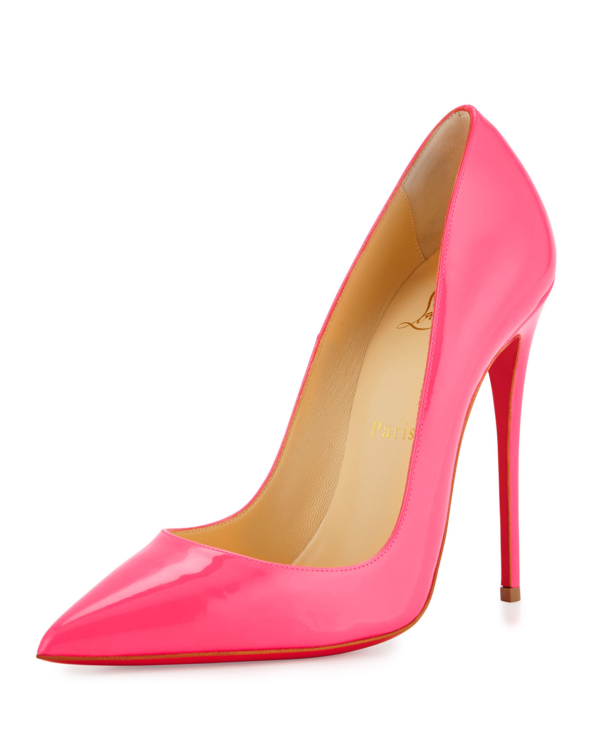 67064041b0f So Kate Patent 120mm Red Sole Pump, Shocking Pink