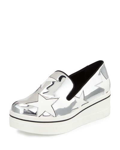 Binx Metallic Star Loafer, Indium/White