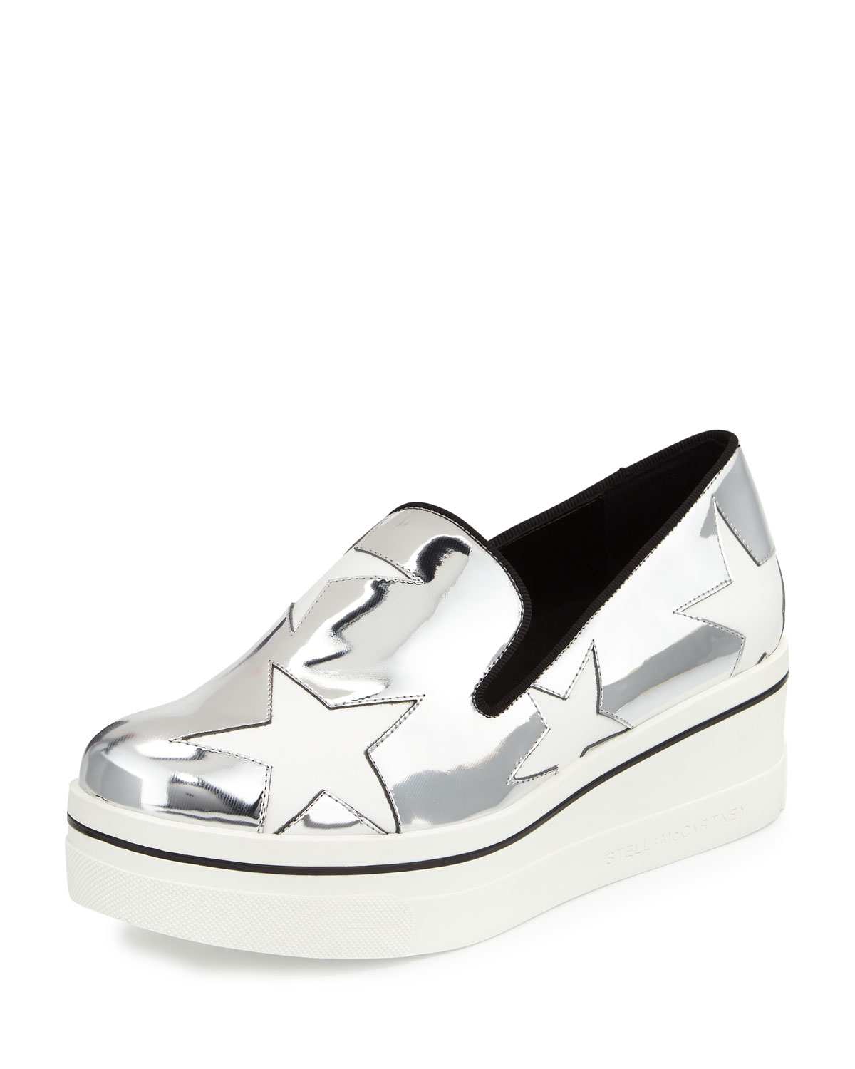8006dd5d7ba Stella McCartney Binx Metallic Star Loafer