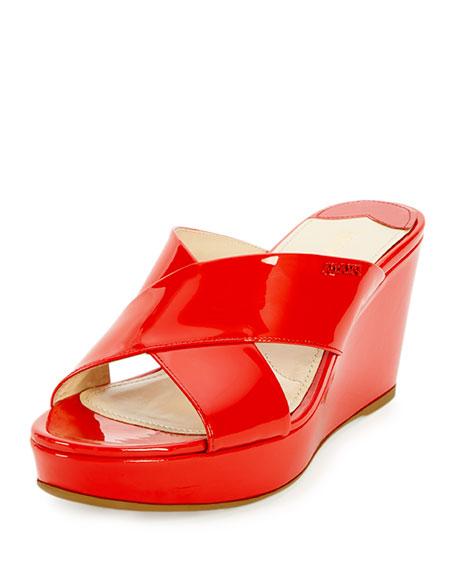 Patent Crisscross Sandal Slide, Lacca