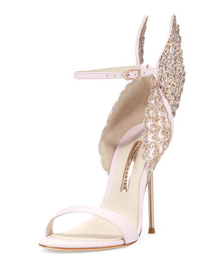 Sophia Webster Evangeline Angel Wing Sandals, Pink Glitter