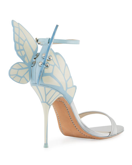 Chiara Butterfly Wing Bridal Sandals, Ice