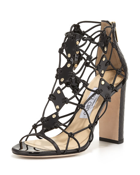 Jimmy Choo Tickle Strappy 100mm Sandal, Black