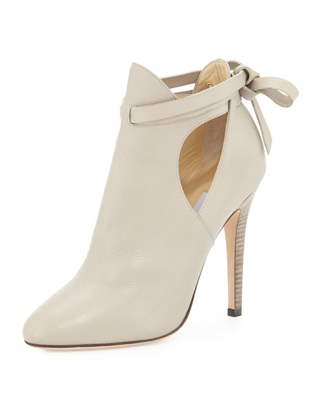 Jimmy Choo Marina Leather Cutout Bootie, Marble
