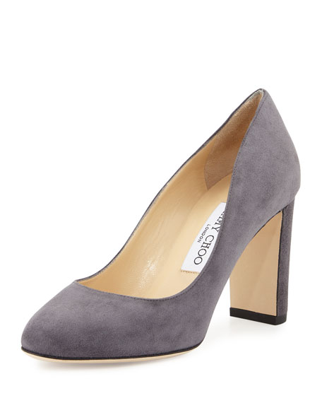 Jimmy Choo Laria Suede 85mm Pump, Dusk