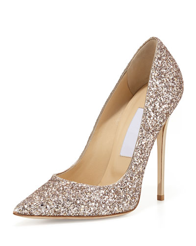 Gorgeous Jimmy Choo glitter pumps