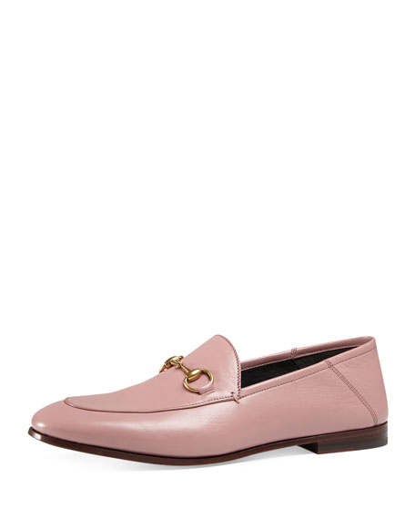 Brixton Leather Horsebit Loafer, Carmine Rose