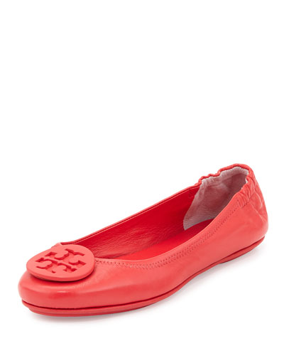 Minnie Travel Logo Ballerina Flat, Vermillion