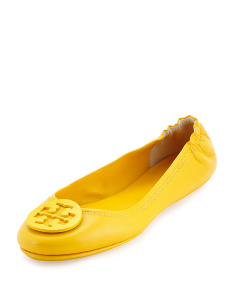 Tory Burch Minnie Travel Logo Ballerina Flat, Sunshine