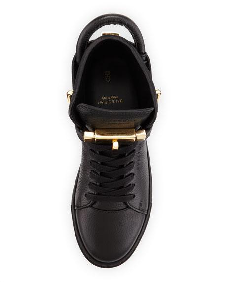 Women's Padlock & Key Pebbled Leather Sneaker