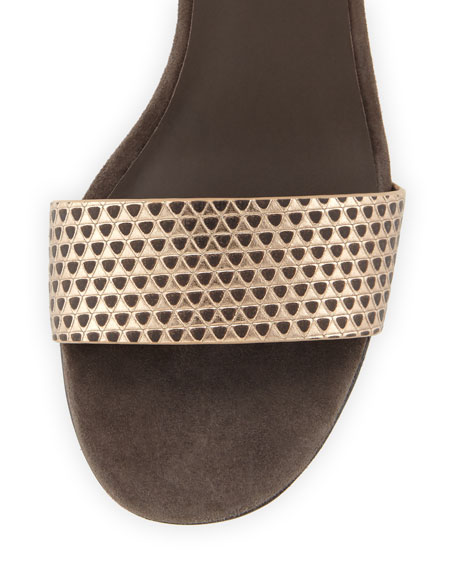 Vince Rita Pyramid Embossed City Sandal Bronze