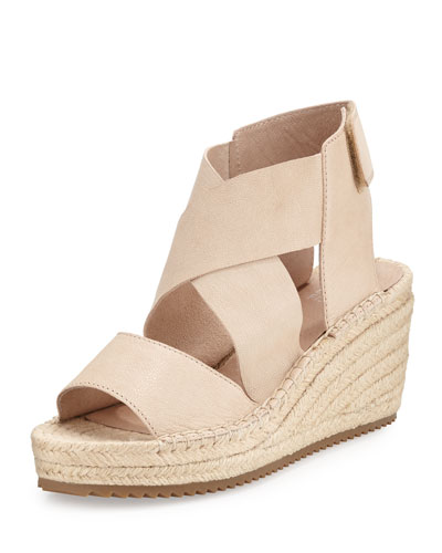 Willow Leather Espadrille Sandal, Desert